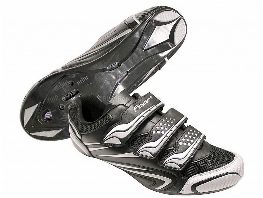Foor Road Shoes 36,37,38,39,40,41,42,43,44,46,47, Black, White, Velcro