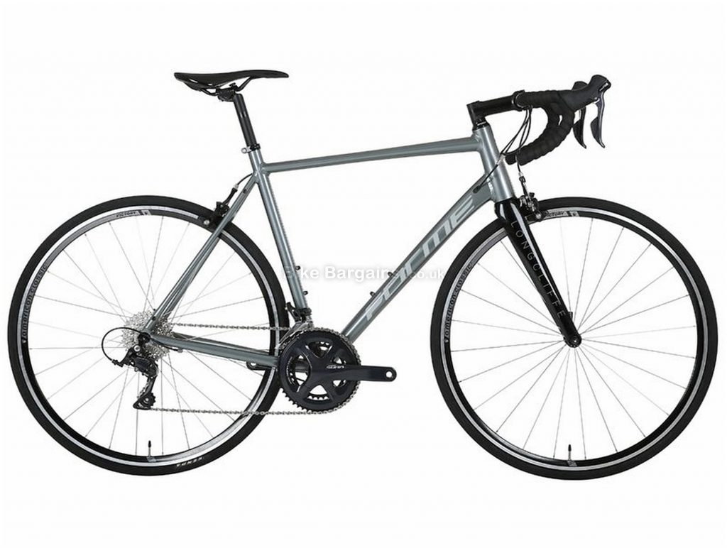 Forme Longcliffe 1 Alloy Road Bike 48cm, Grey, Black, Alloy, 9 Speed, Double Chainring, Caliper brakes, 700c