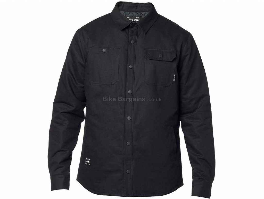 Fox Clothing Montgomery Lined Casual Work Shirt S, Black, Brown, Long Sleeve, Cotton