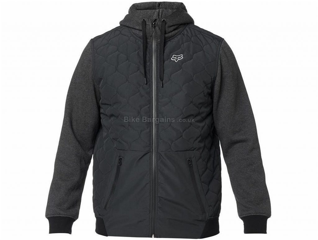 Fox Reducer Zip Fleece Hoodie M,L, Blue, Men's, Long Sleeve, Polyester