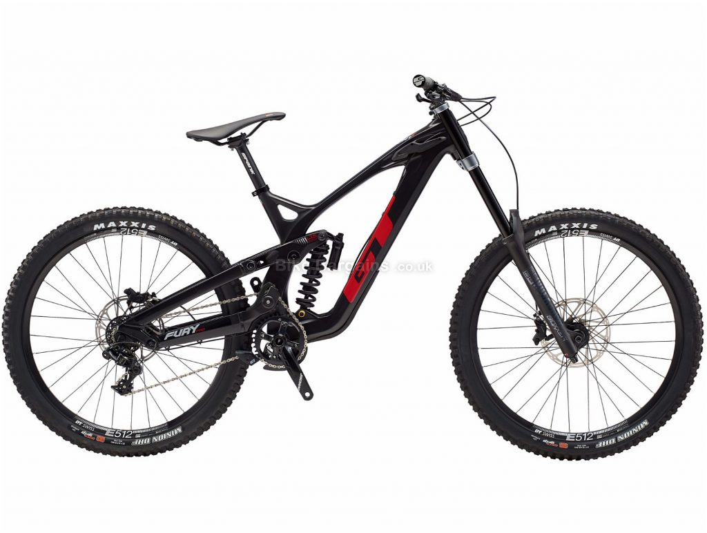 "GT Fury Pro Carbon Full Suspension Mountain Bike 2019 L, Black, Carbon, 29"", Disc, Full Suspension, 7 Speed, Single Chainring"