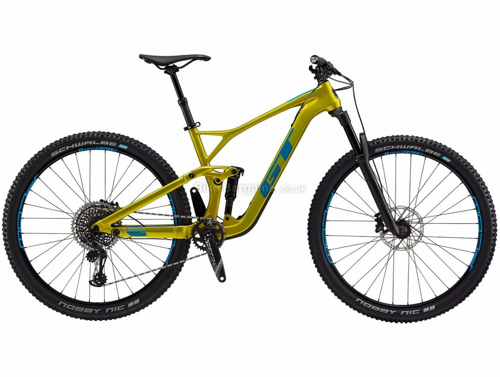 "GT Sensor Carbon Pro Full Suspension Mountain Bike 2019 L,XL, Yellow, Carbon, 29"", Disc, Full Suspension, 12 Speed, Single Chainring"