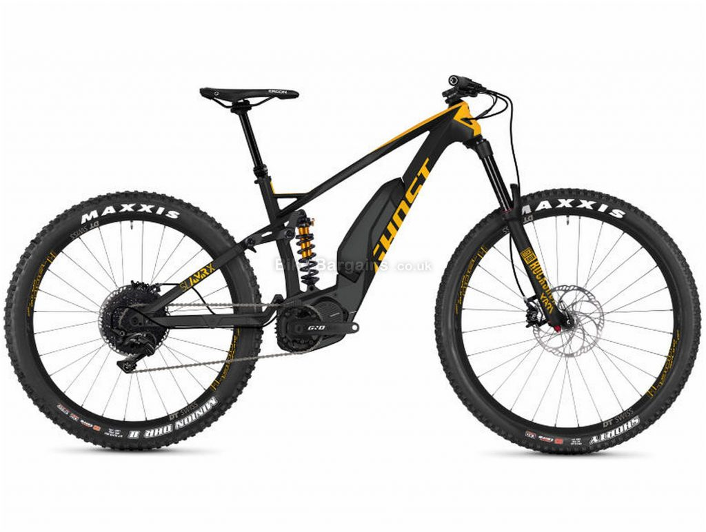 Ghost Slamr X S5.7+ Full Suspension Carbon Electric Bike 2019 M, Black, Orange, Carbon, 11 Speed, Single Chainring, Disc, 700c