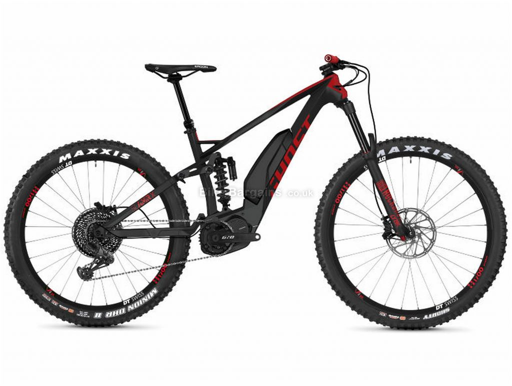 """Ghost Slamr X S7.7+ Full Suspension Carbon Electric Bike 2019 L, Black, Red, Carbon, 12 Speed, Single Chainring, Disc, 29"""""""