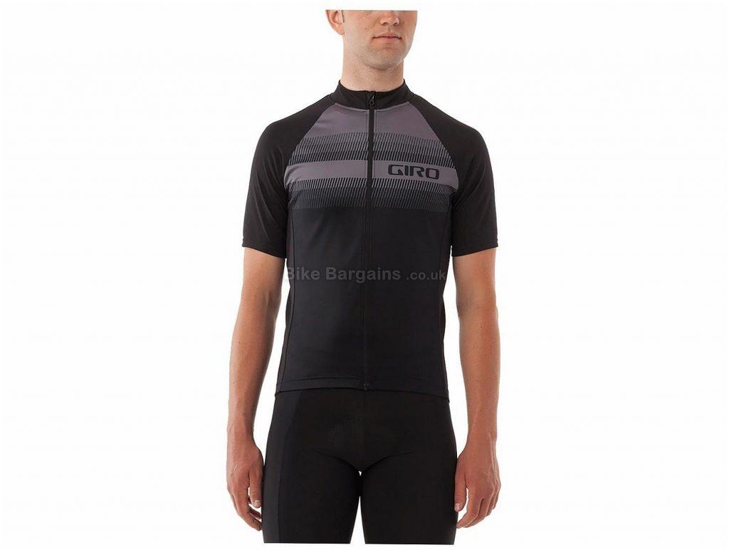 Giro Chrono Sport Sublimated Short Sleeve Jersey S, Black, Men's, Short Sleeve, Polyester