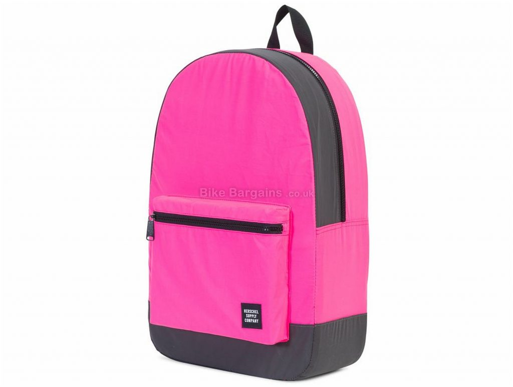 "Herschel Packable Day Backpack 24 Litres, 17"" x 12"" x 5"", Pink, Grey"