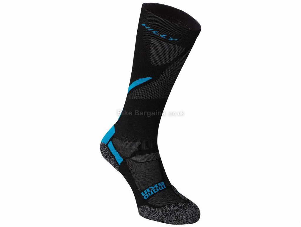 Hilly Energize Compression Sleeve Socks S,M,L,XL, Black, Blue