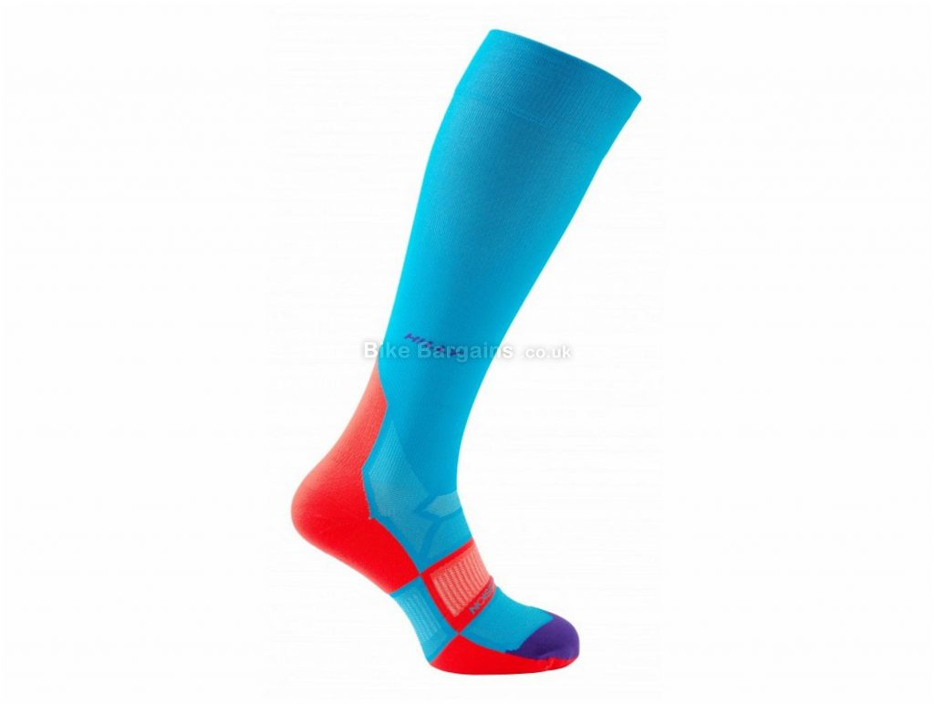 Hilly Ladies Pulse Compression Sleeve Socks S,M, Blue, Red