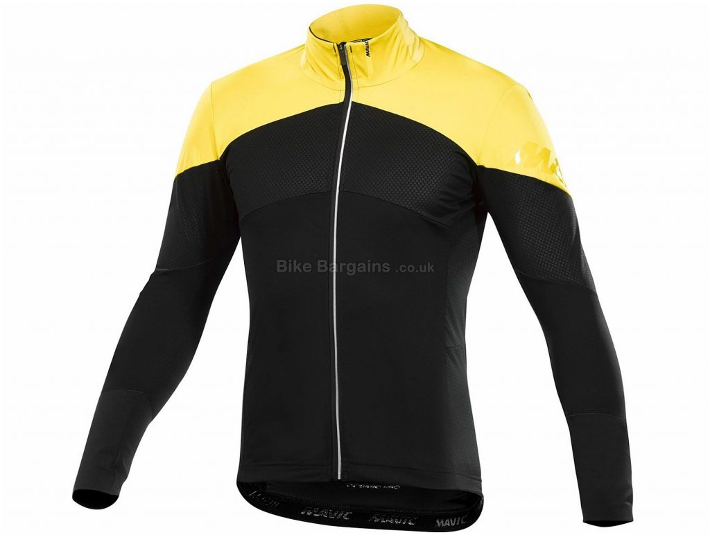 Mavic Cosmic Pro Wind Long Sleeve Jersey M, Yellow, Black, Men's, Long Sleeve, Polyester