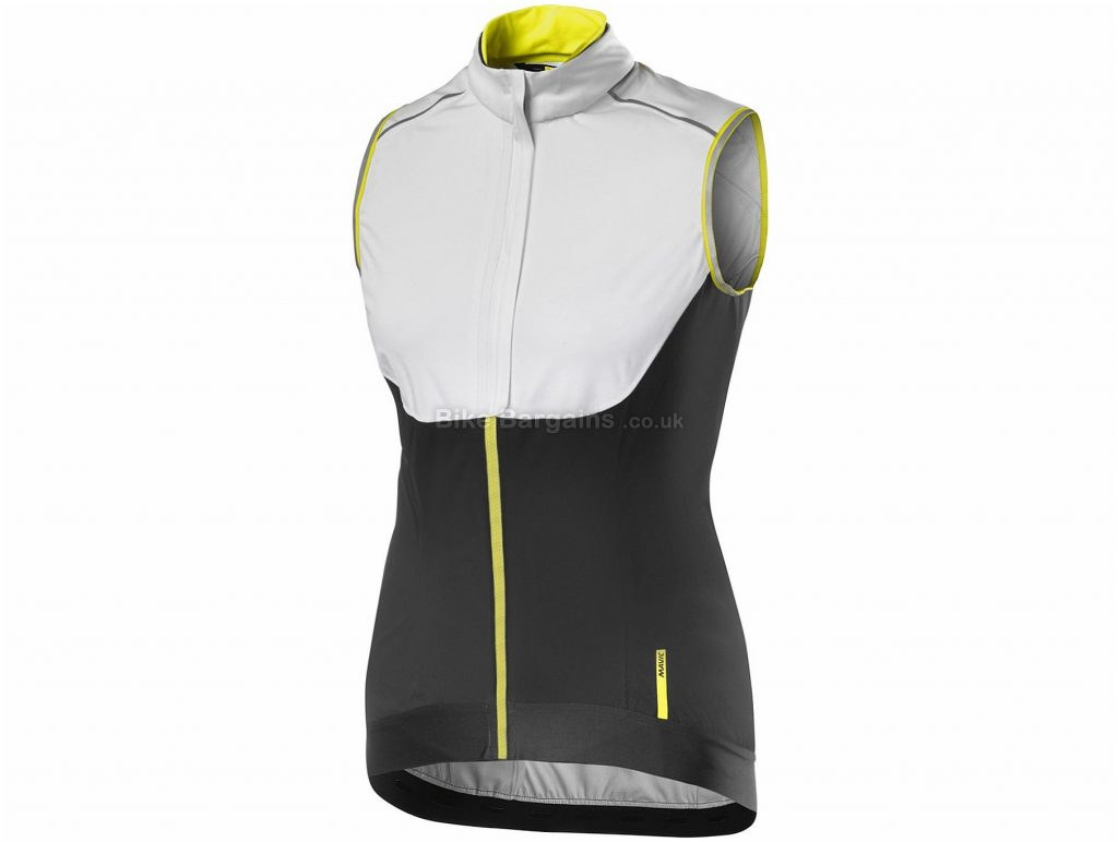 Mavic Ladies Vision H2O Wind Rain Gilet XS, White, Black, Ladies, Sleeveless, Polyester