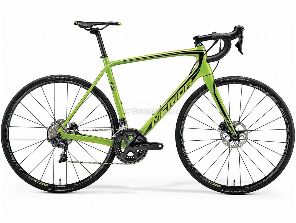 Merida Scultura Disc 6000 Carbon Road Bike 2018 XXS, Green, Black, Carbon, 700c, Disc, 11 Speed, Double Chainring