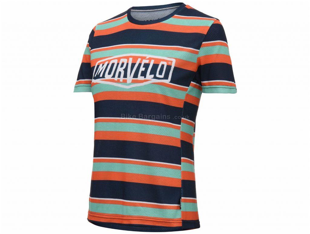 Morvelo Exclusive Ladies Band MTB Short Sleeve Jersey XS, Turquoise, Black, Orange