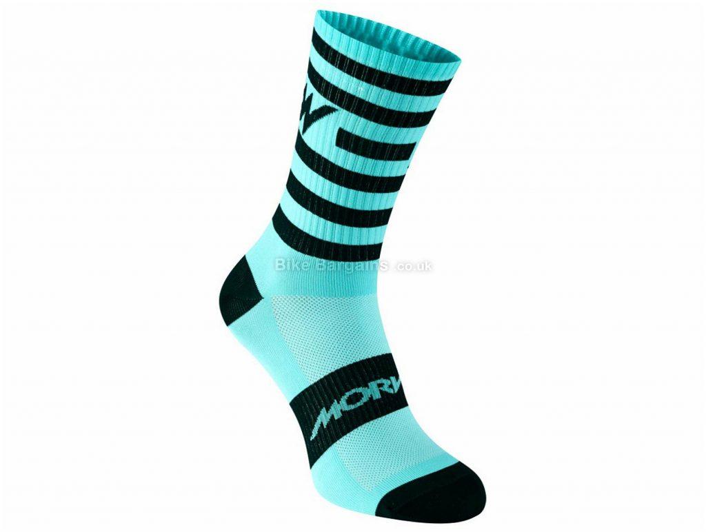 Morvelo Stripe Socks S,M, Blue, Black, Pink, Yellow, Orange, Red, White