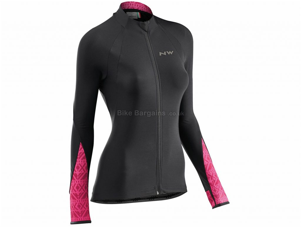 Northwave Ladies Allure Long Sleeve Jersey XL, White, Black