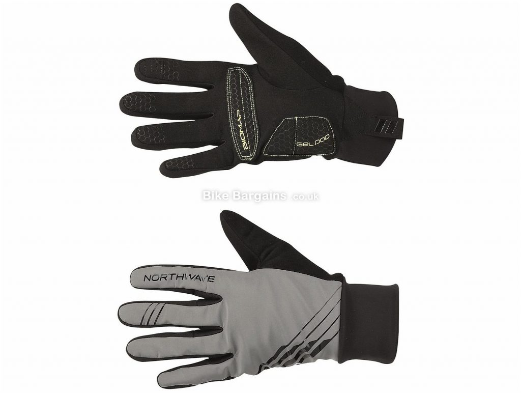 Northwave Power 3 Gel Gloves M,XL, Black, Yellow, Men's, Ladies, Full Finger, Fleece, Gel, Polyester