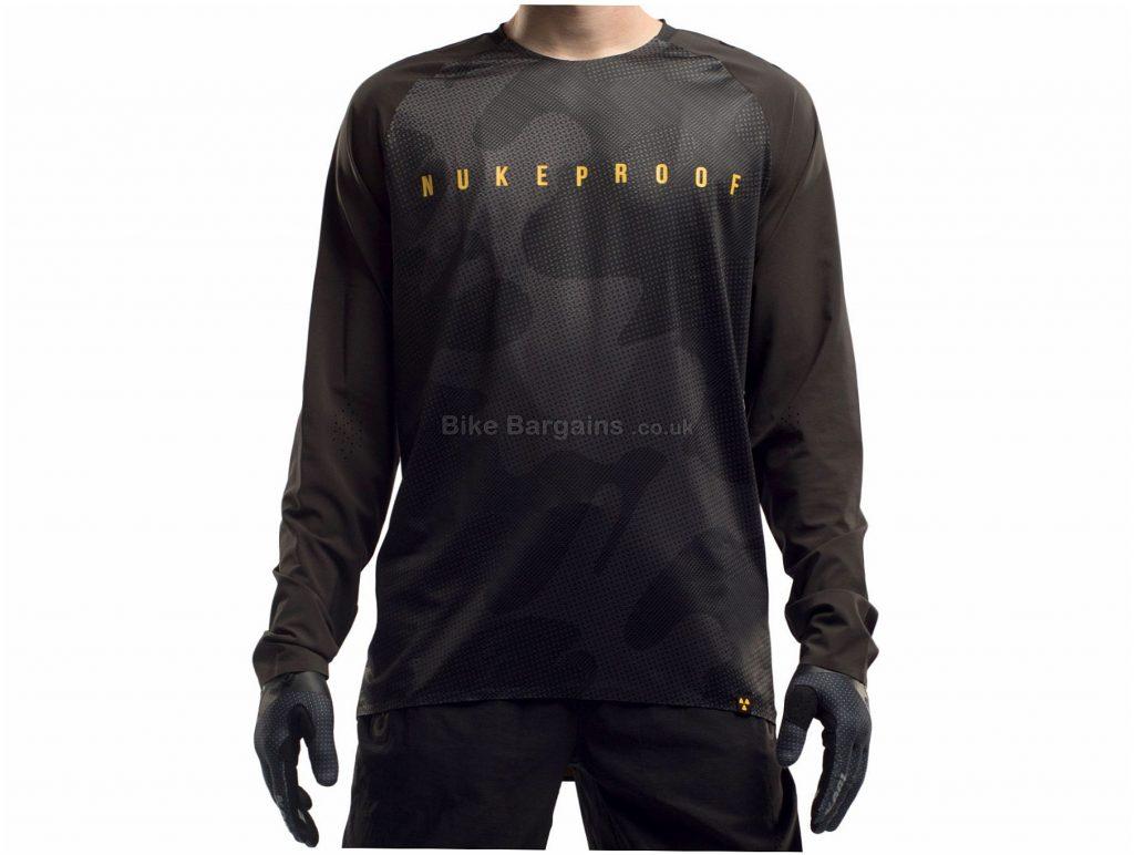 Nukeproof Nirvana Long Sleeve Jersey S, Grey, Orange