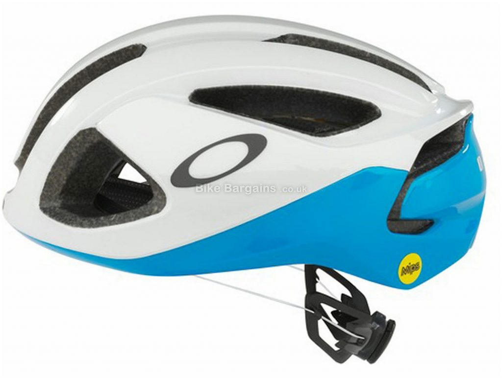 Oakley ARO3 Helmet S, White, Blue, 12 vents, 300g, Polycarbonate
