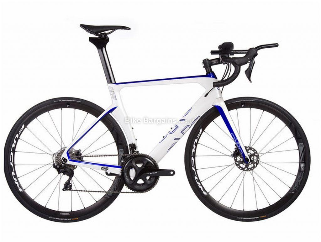 Orro Venturi Evo Tri 105 Carbon Road Bike 2020 S, White, Blue, Carbon, 11 Speed, Double Chainring, Disc, 700c