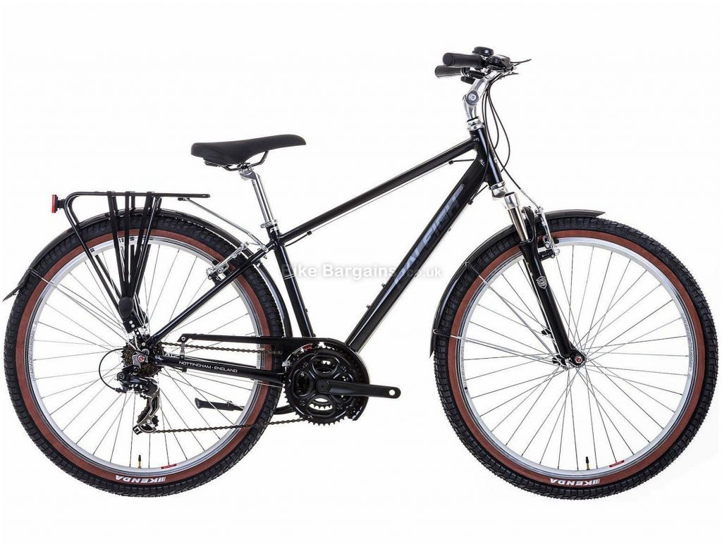 "Raleigh Pioneer Trail Alloy Commuter City Bike 17"", Black, Alloy, 27.5"", 7 Speed, Hardtail, Caliper Brakes, Triple Chainring, 16.2kg"