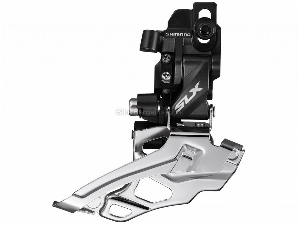 Shimano SLX M676 Direct Mount 10 Speed Double Front Derailleur Double, 10 Speed, Direct Mount, Black, Silver