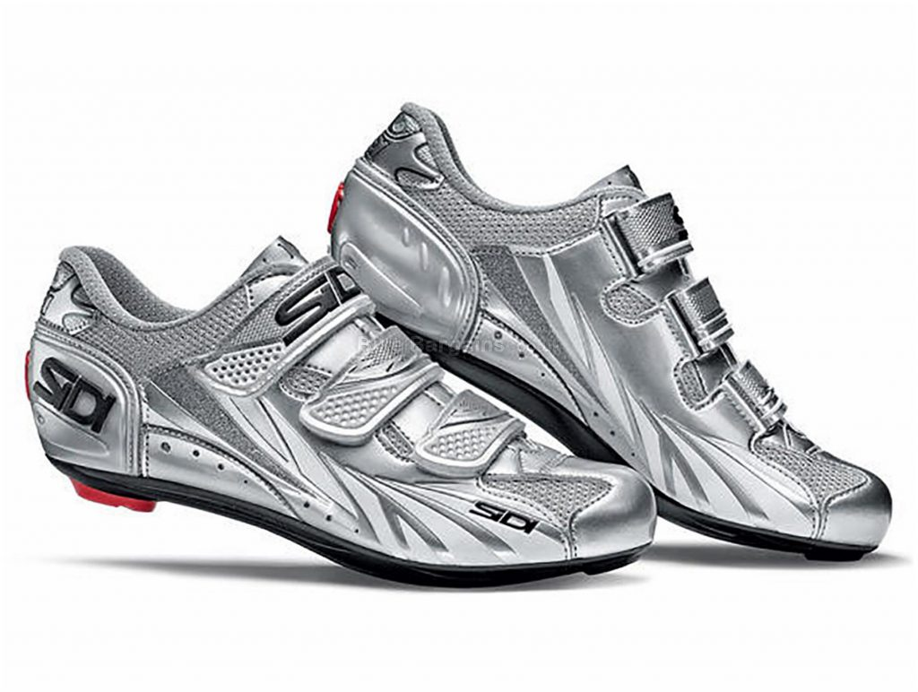 Sidi Moon Ladies Road Shoes 37, Silver, Black, Velcro