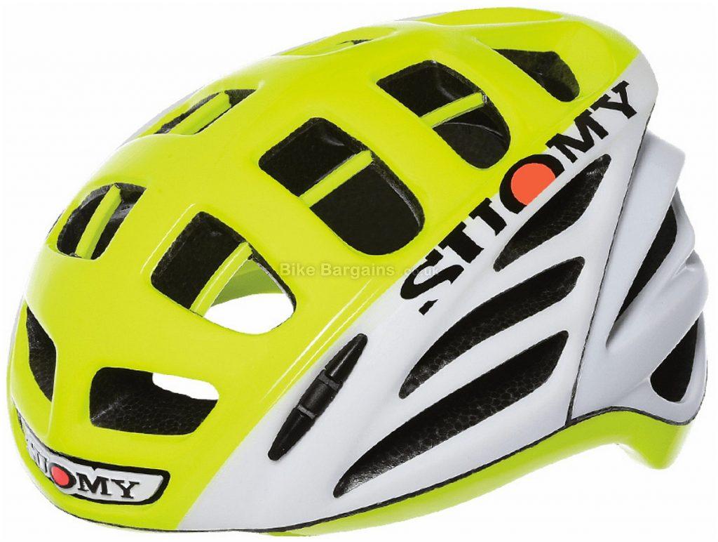 Suomy Gun Wind Road Helmet L, White, Yellow, Pink, 240g, 25 vents