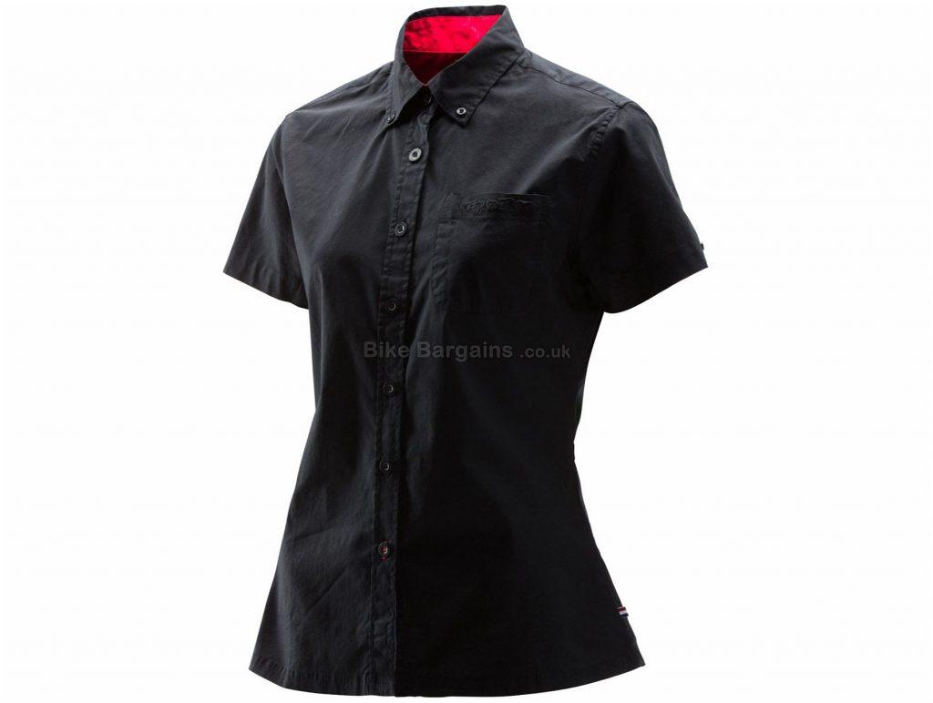 Troy Lee Designs Ladies Woven Shop Shirt L, Black