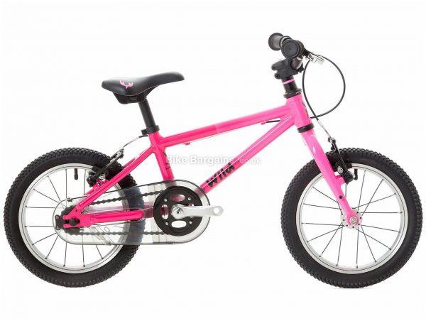 "Wild Bikes Wild 14 Alloy Kids Bike One Size, Pink, Alloy, 5.8kg, Single Speed, Single Chainring, Caliper brakes, 14"""