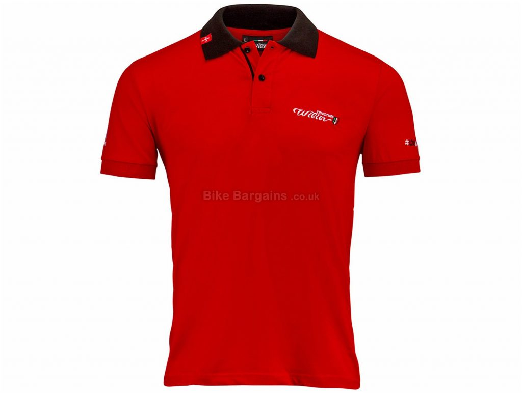 Wilier 110 Casual Polo Shirt XL, Red, Short Sleeve