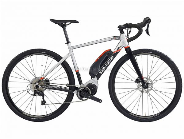 Wilier E-Adventure Carbon Gravel E-Bike L, Silver, Black, Red, Alloy, Disc, Single Chainring, 11 Speed,
