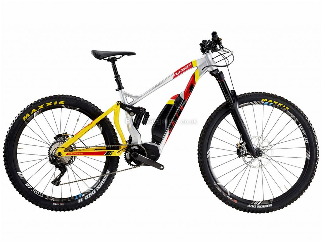 "Wilier E803 Enduro XT Alloy Full Suspension Mountain E-Bike M, Yellow, Grey, Red, Alloy, 11 Speed, Single Chainring, Disc, 29"", 27.5"""