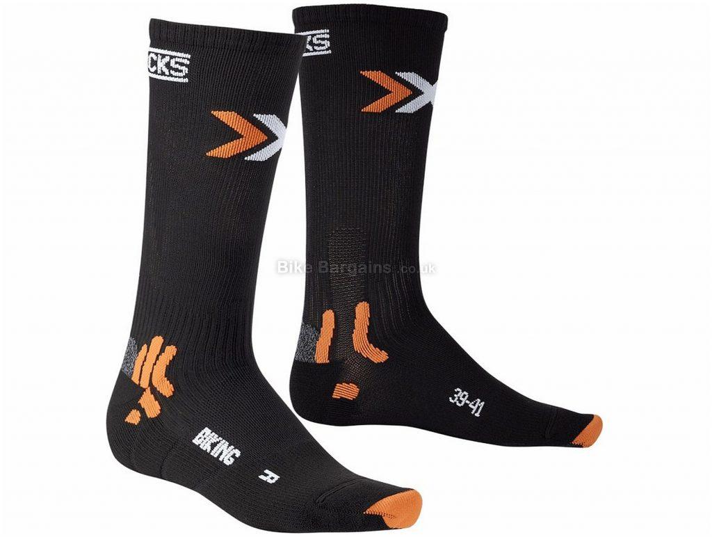 X-Bionic X-Socks Bike Mid Energizer Socks S,M,L,XL, Black, Orange, White, Polyester