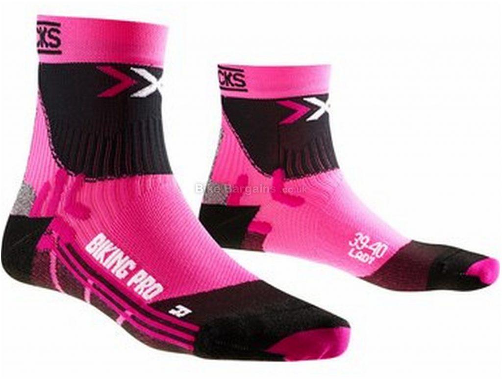 X-Bionic X-Socks Bike Pro Ladies Socks S, Black, Pink, Polyester