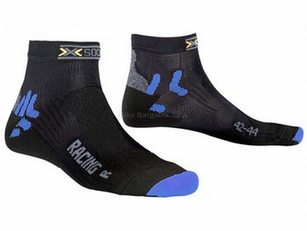 X-Bionic X-Socks Bike Racing Ladies Socks S,M,L,XL, Black, Blue, Polyester