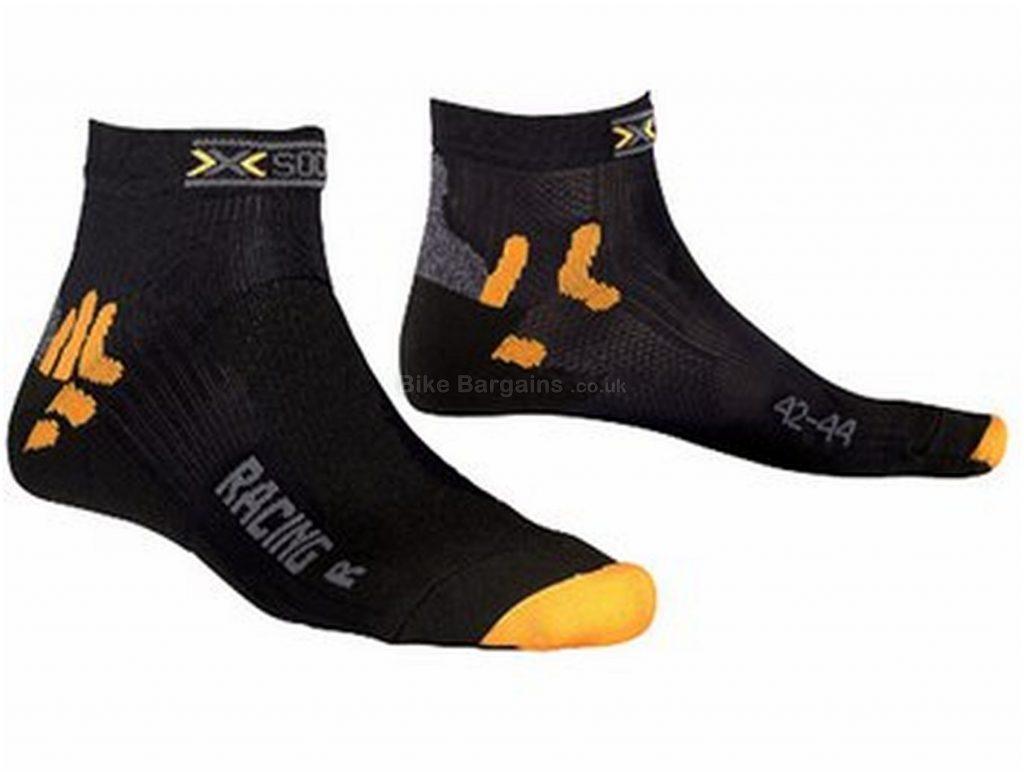 X-Bionic X-Socks Bike Racing Socks XS,S,M, Black, Orange, Polyester