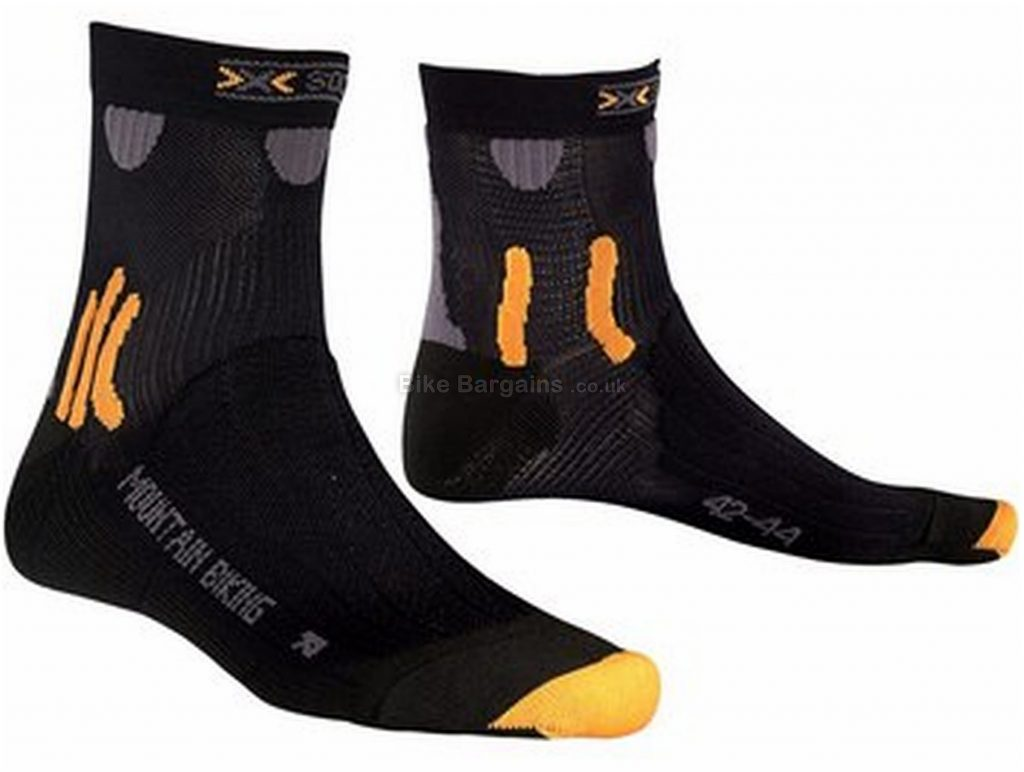 X-Bionic X-Socks Mountain Bike Socks S, Black, Orange, Polyester