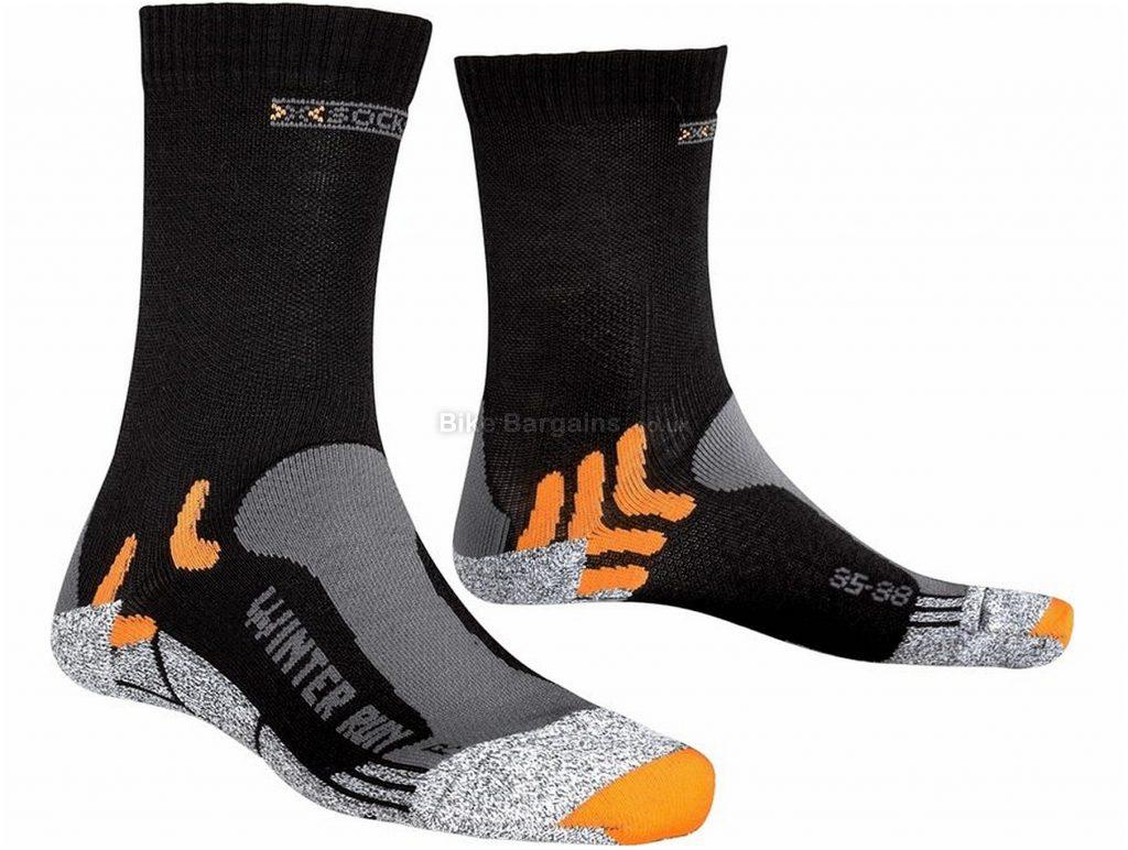 X-Bionic X-Socks Winter Run Socks S, Grey, Black, Orange, Polyester