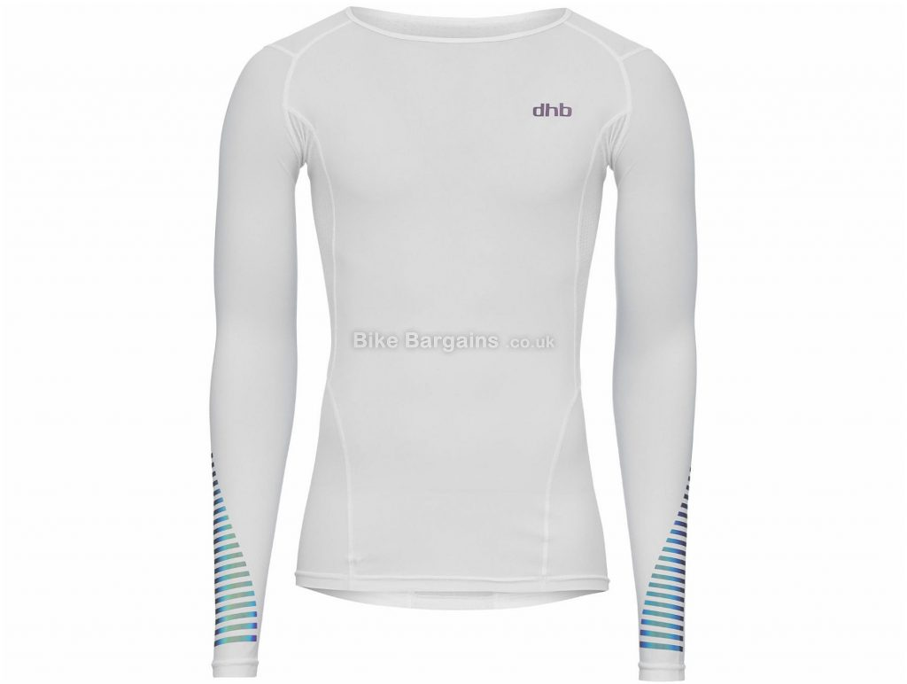 dhb Compression Long Sleeve Base layer M,L,XL,XXL, Black, White, Men's, Long Sleeve, Nylon, Elastane