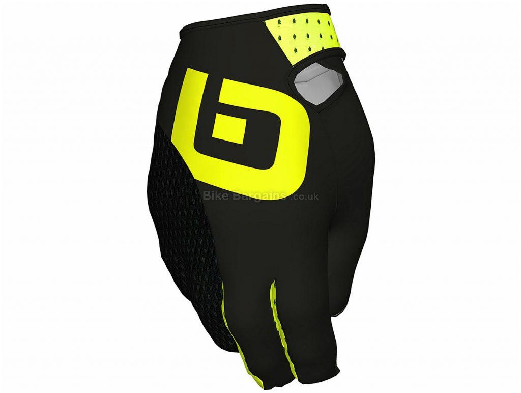 Ale Fango Gloves XXL, Black, Yellow, Padded Palm, Full Finger, Men's, Polyamide, Elastane, Polyester