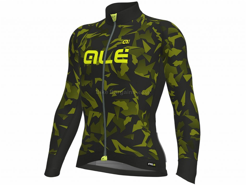 Ale Glass Long Sleeve Jersey S, Green, Black, Breathable, Thermal, Ladies, Long Sleeve, Polyester, Elastane, Polyamide