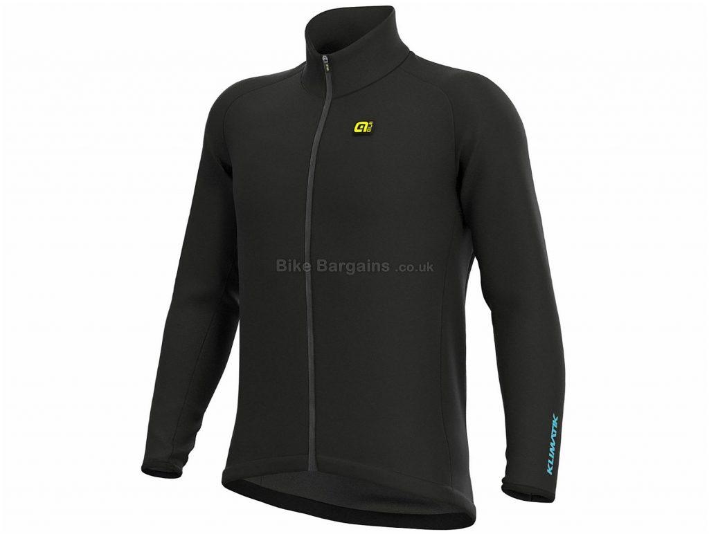 Ale Klimatik Giubbino Racing Jacket XS, Black, Waterproof, Breathable, Long Sleeve, Polyamid, Elastane