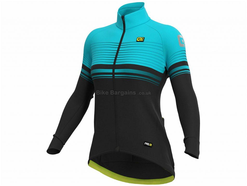 Ale Ladies Slide Jacket S, Black, Turquoise, Windproof, Men's, Long Sleeve, 430g, Polyester, Elastane