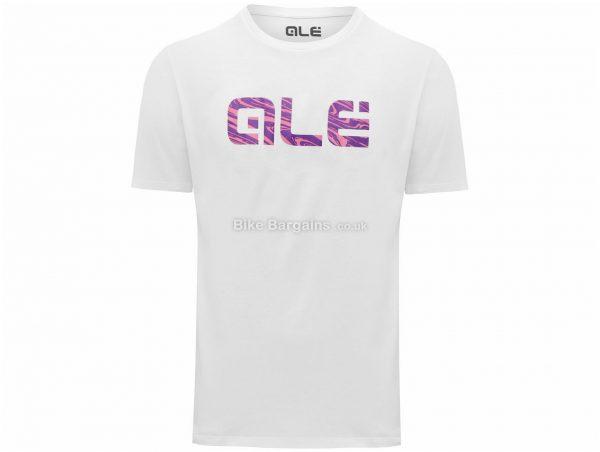 Ale Pink Swirl Logo T-Shirt L,XL, Black, White, Casual Fit, Short Sleeve, Cotton