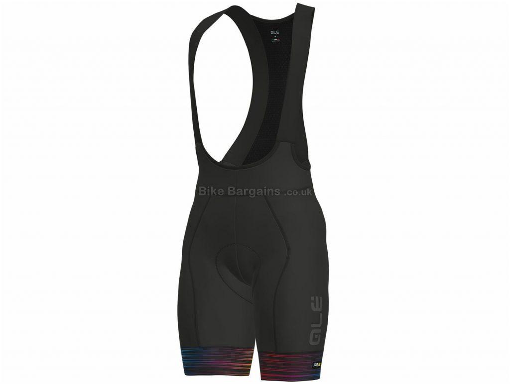 Ale The End Bib Shorts XS, Black, Yellow, Breathable, Men's, Polyamide, Elastane, Polyester