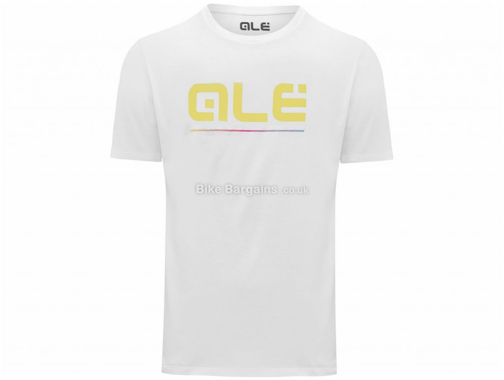 Ale Yellow Classic Logo T-Shirt L,XL, White, Black is extra, Casual Fit, Short Sleeve, Cotton