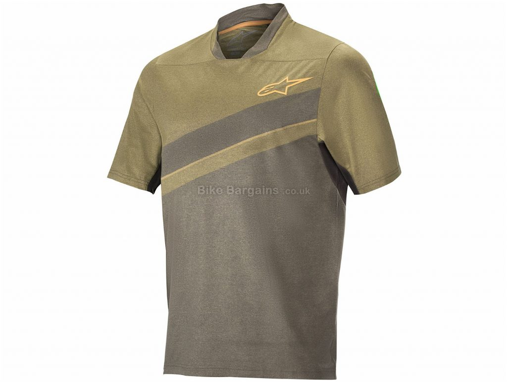 Alpinestars Alps 8.0 Short Sleeve Jersey S, Brown, Stretchy & Breathable, Men's, Short Sleeve, Polyester, Elastane