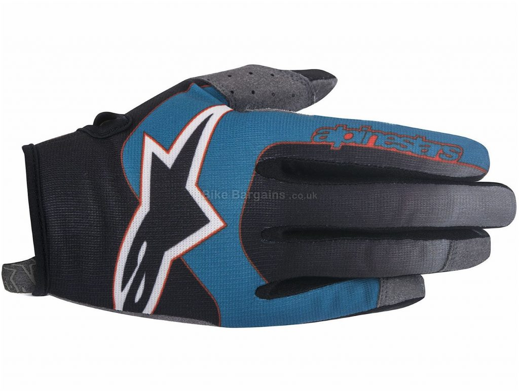 Alpinestars Vector Gloves XXL,XXXL, Grey, Black, Silicone Grip, Full Finger, Men's, Polyester