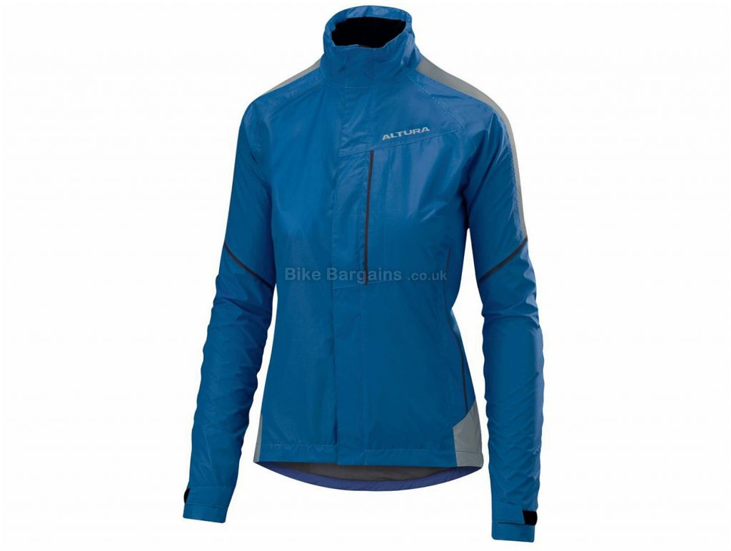 Altura Ladies Nightvision Twilight Jacket 8,10,12,14,16, Blue, Fully Waterproof & Breathable, Long Sleeve, Polyester, Elastane