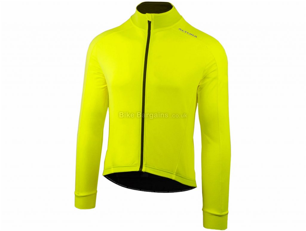 Altura Thermostat 2 Long Sleeve Jersey S, Green, Yellow, Semi-Fitted, Long Sleeve, Polyester, Elastane