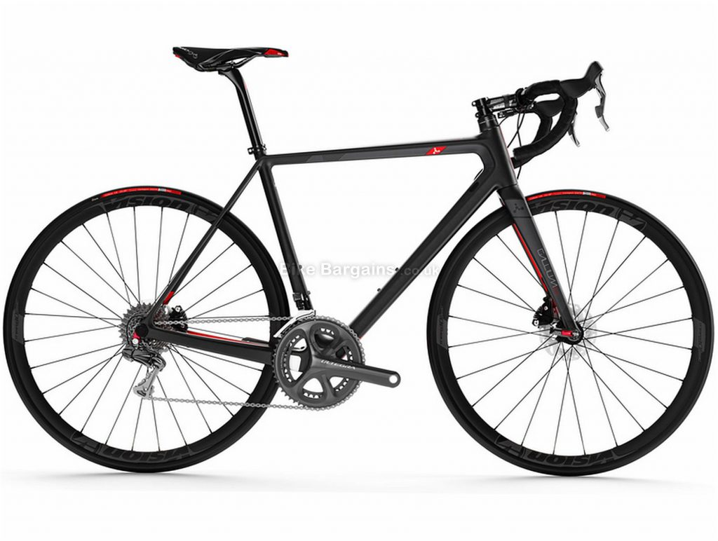 Argon 18 Gallium Pro Disc Ultegra Di2 Carbon Road Bike 2018 M, Black, Red, Carbon, 700c, Double Chainring, 11 Speed, Disc